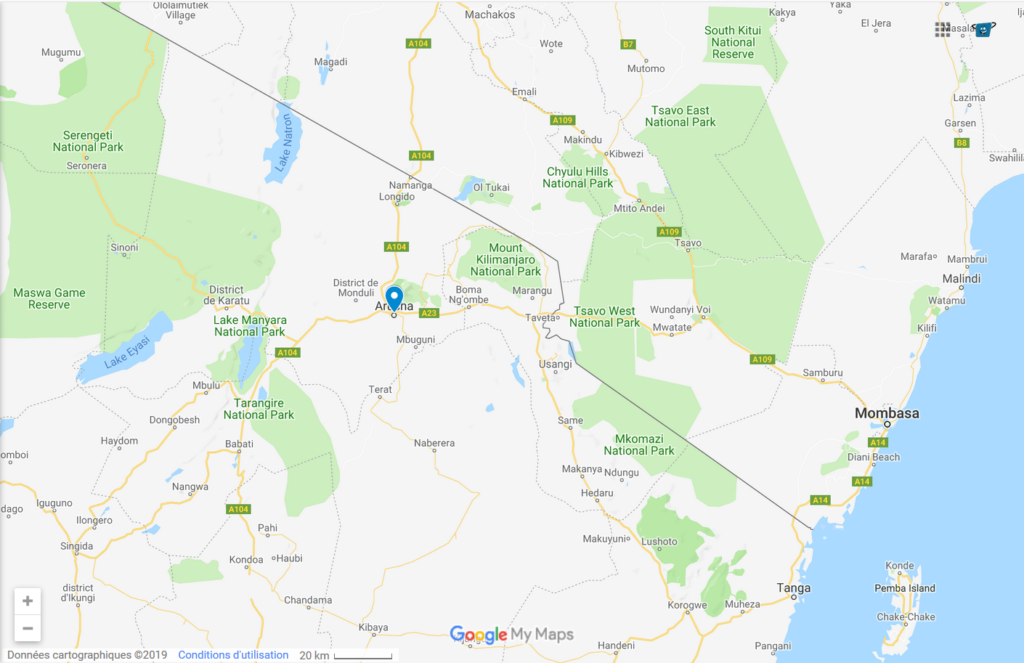 Arusha Town Tour Map - Kisengo Safaris