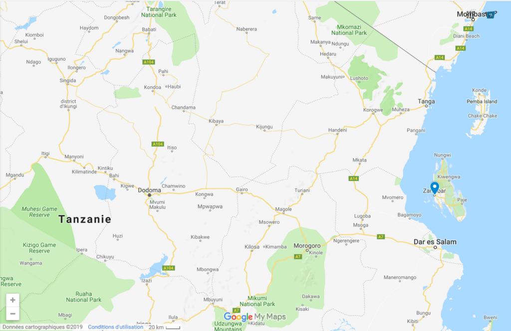 Zanzibar Trip Map - Kisengo Safaris